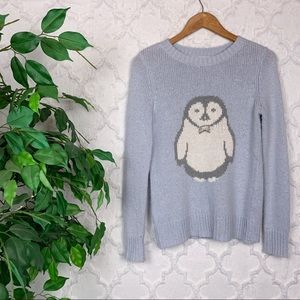 Lauren Conrad Penguin Graphic Knit Sweater
